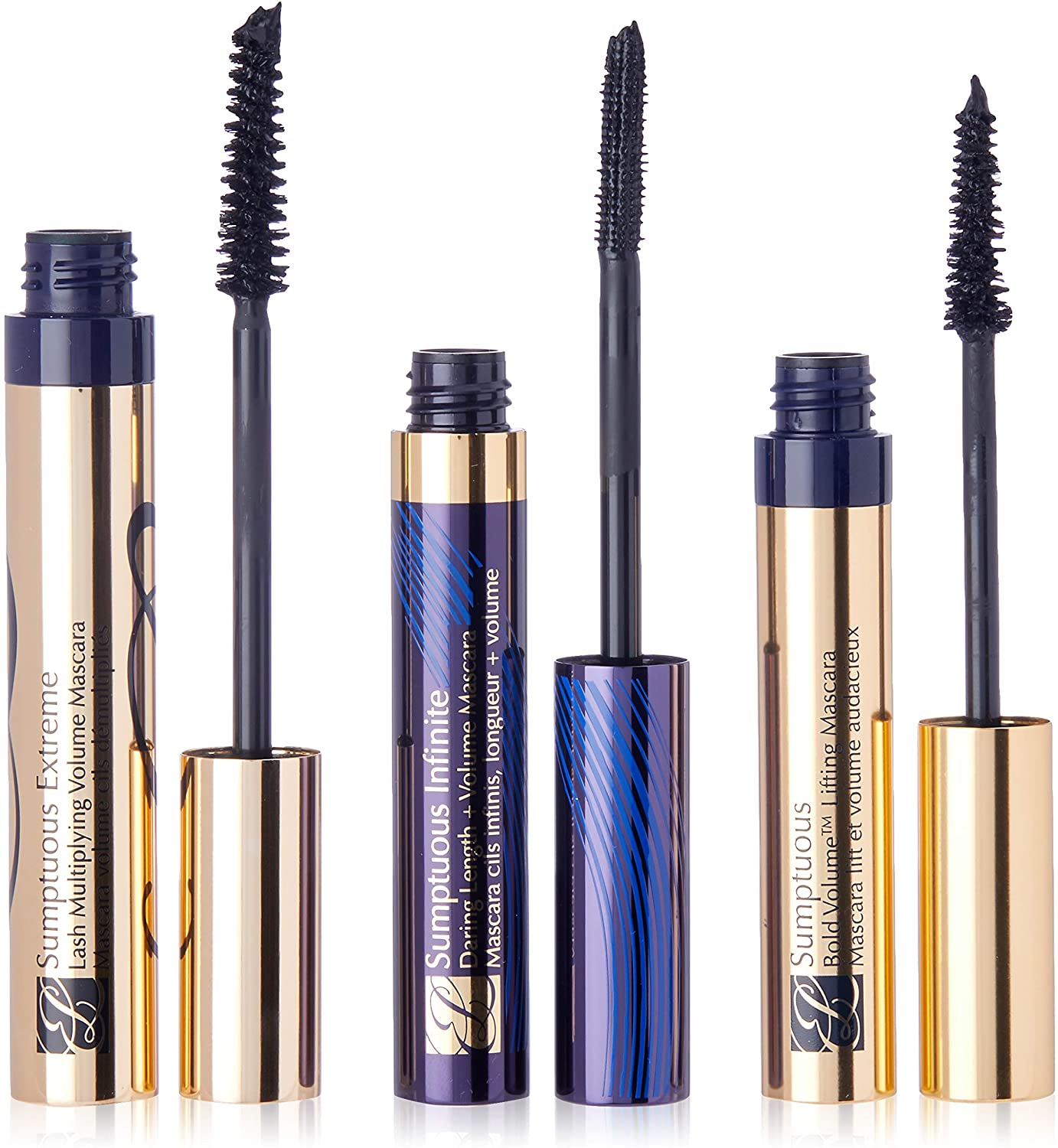 Estee Lauder Sumptuous Mascara Trio for Women, 3 Count