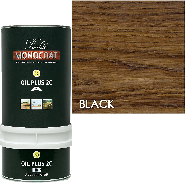 Rubio Monocoat Wood Stain Oil Plus 2C Black 350 ml