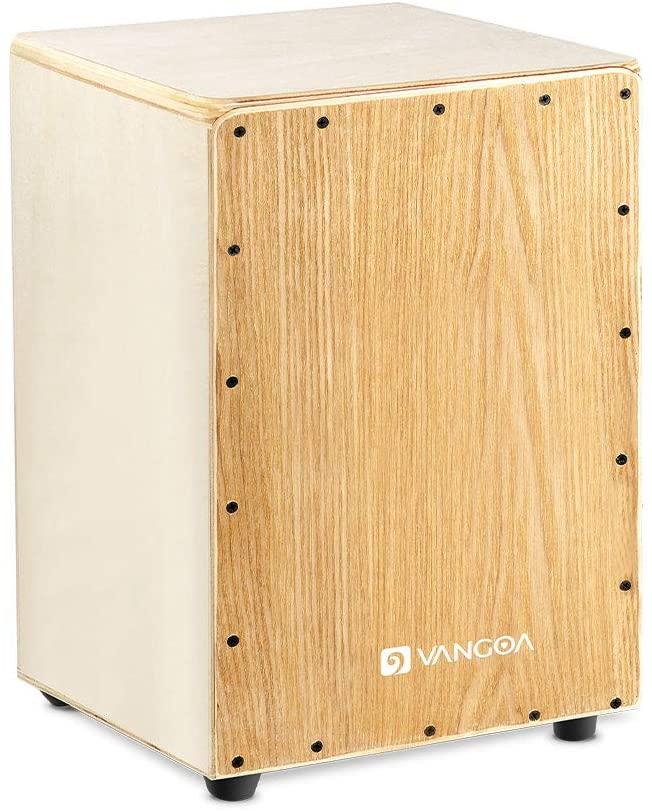 Vangoa Full Size Cajon Box Drum, Poplar Wood Percussion Box Internal Snare Drum for Teens Adults Beginners