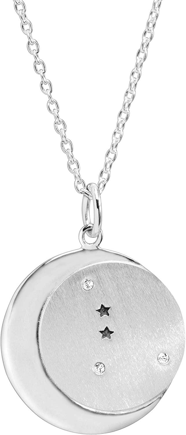 Silpada 'Cancer' Constellation Pendant Necklace with White Swarovski Crystals in Sterling Silver, 18