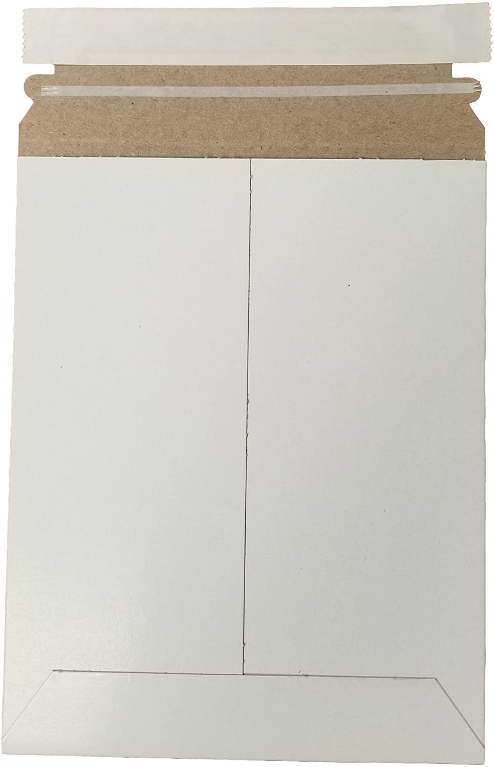 Stay Flat White Mailers -Envelopes with Self-Seal Tape Keep Delicate Items or Papers Safe - Size 6
