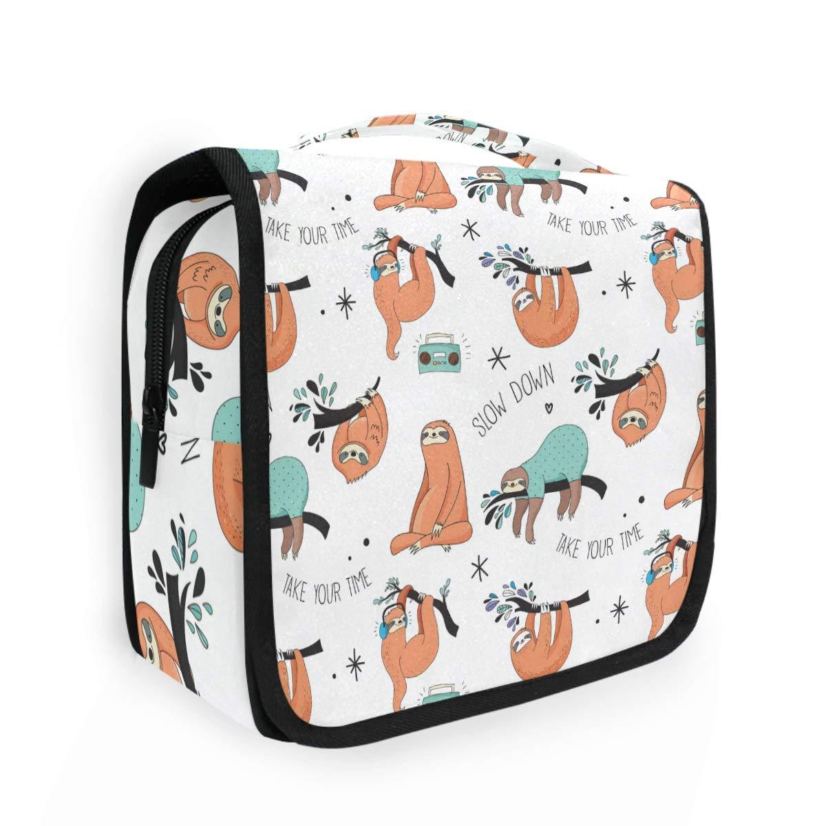 CaTaKu Animal Cute Lazy Sloth Cosmetic Bag Toiletry Bag Multifunction Bag Cosmetic Portable Makeup Waterproof Travel Hanging Organizer Bag for Men & Women