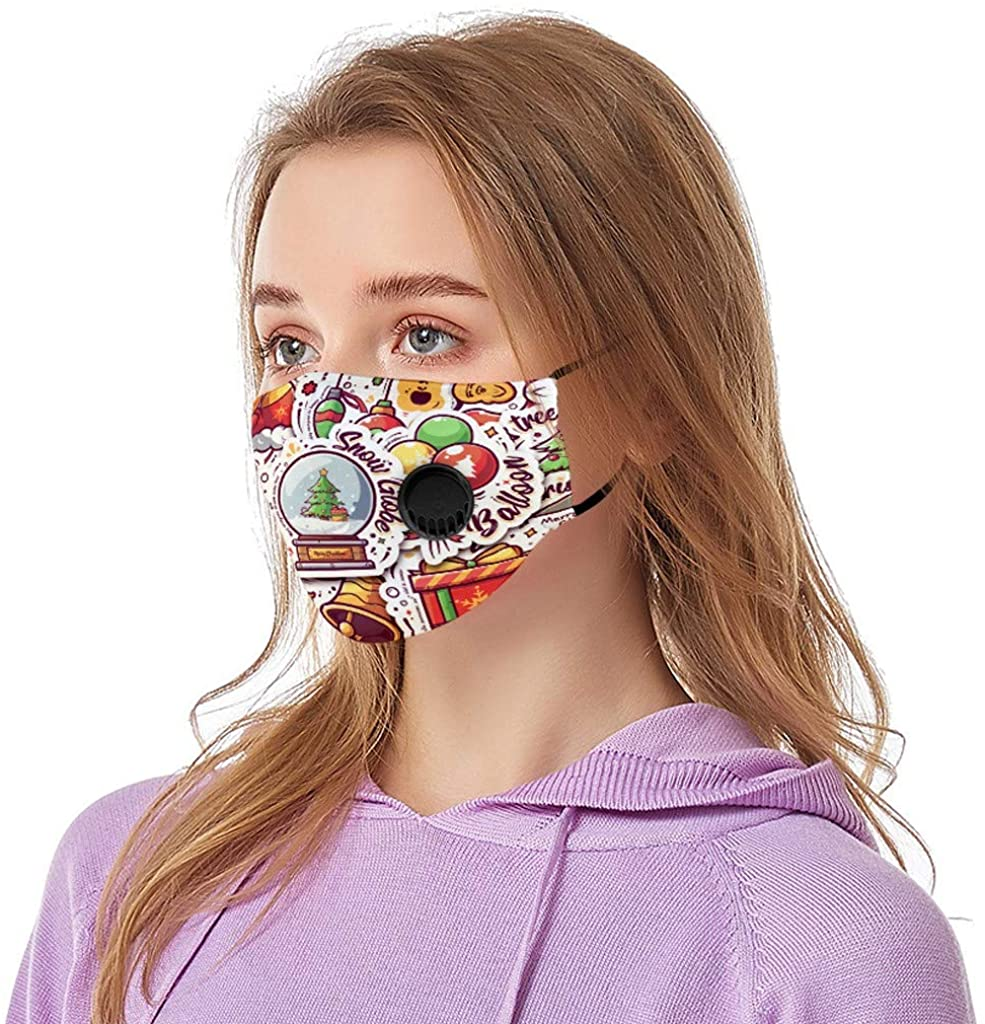 1PC Christmas Funny Printed Adult Cycling Reusable Breathable Fashion Windproof Outdoor Washable Cotton Cloth Face_Mask