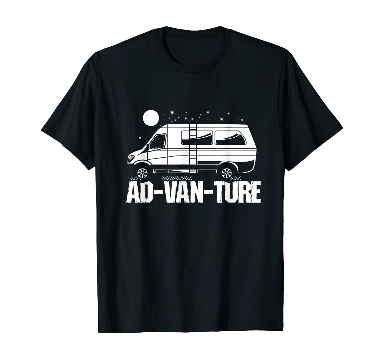 Funny Camper Van Life Gift I Vanlife Ad-Van-Ture T-Shirt