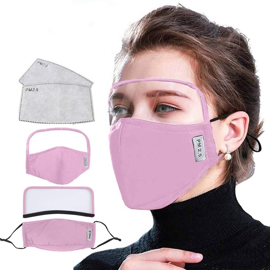Gurfitra 1PC Cotton Dustproof Outdoor Face Protective Face Guard with Eyes Shield + 2 Filters, Removable