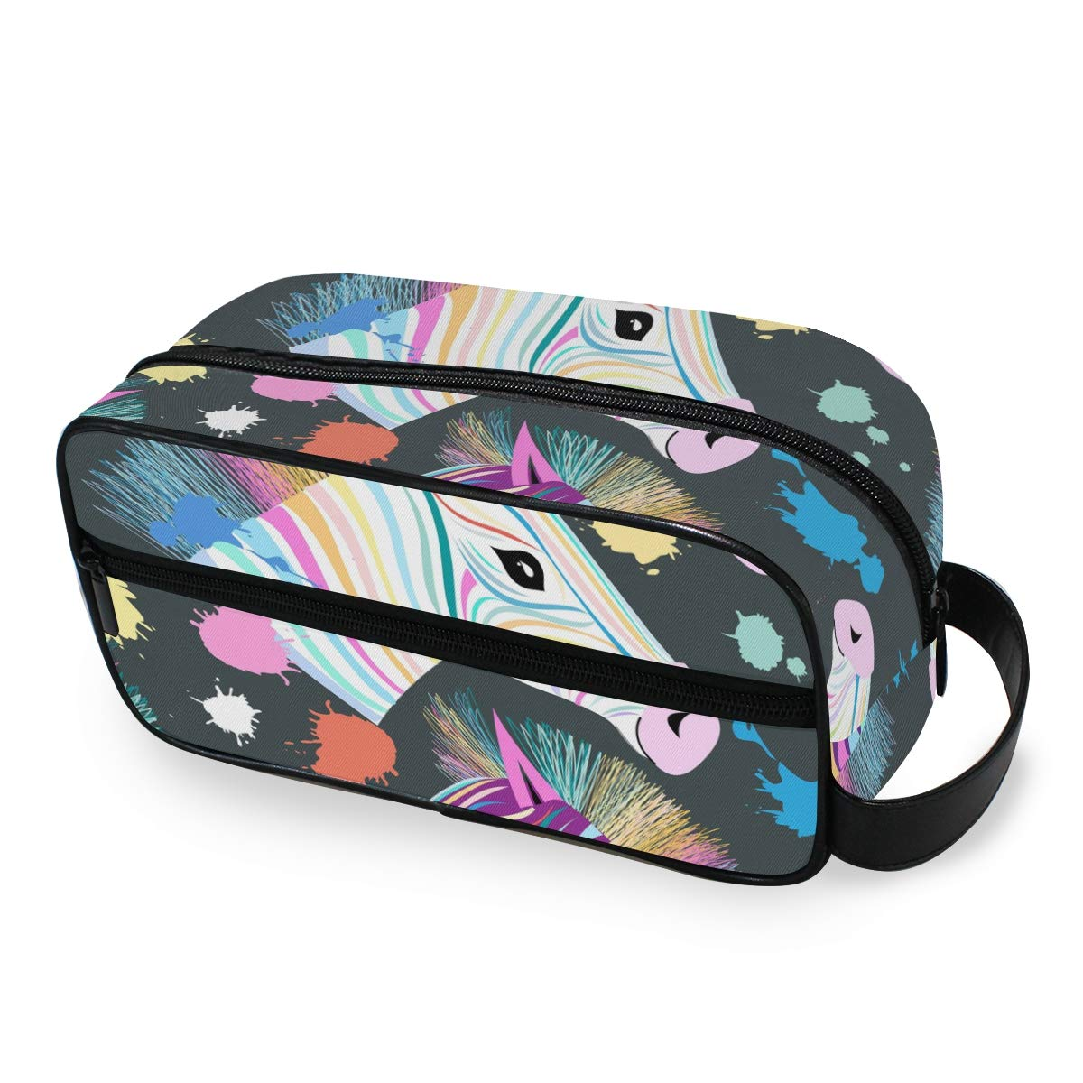 Cosmetic Bag Makeup Case Portable Toiletry Bag Zebra Pattern Organizer Accessories Case Tools Case for Trave