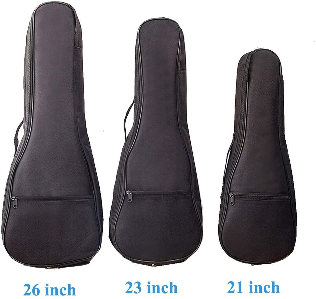 Black Portable Ukulele Gig Bag Waterproof Small Guitar Storage Case Durable Uke Single Shoulder Backpack For 21 Inch,23 Inch,26 Inch Ukulele (26 Inch)