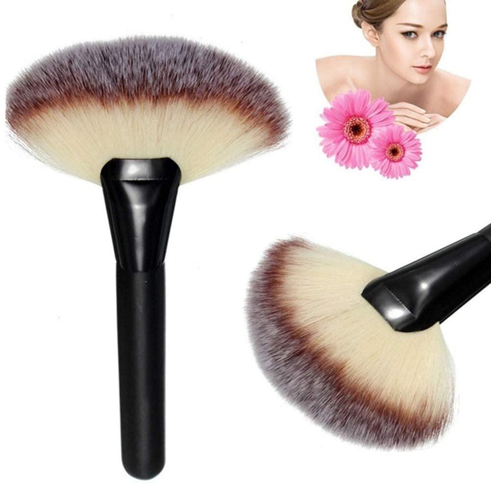 LOadSEcr Pro Soft Large Fan-Shaped Powder Foundation Brush Face Concealer Makeup Tool Perfect Face Makeup Brush Black