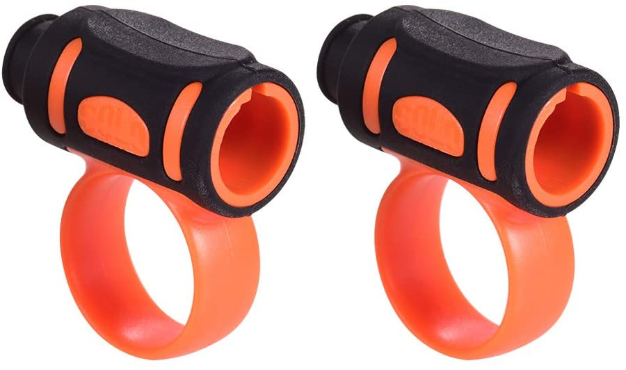 Muslady 2pcs Drum Stick Control Clip ABS + Silicone Material Drumsticks Accessories for Drummer Beginner (#5/#7 optional)
