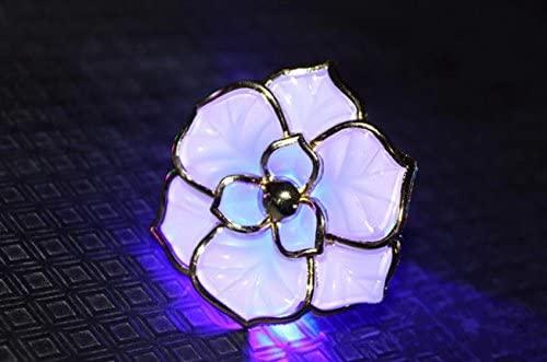 (3PCS)Blinking Flower Hair Clip Led Headwear Flower Light-up Flower Hair Clip for Party Favors