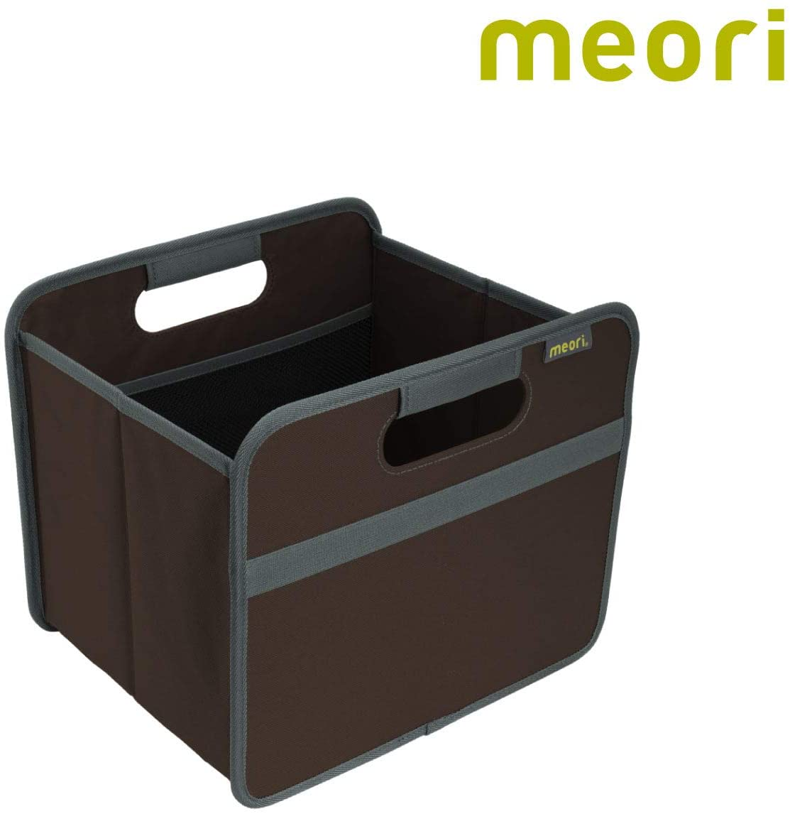 meori Cacao Brown Collapsible Organizer Store Carry Bedroom Bathroom Nursery Laundry Books up to 65lbs Foldable Box Small, 1-Pack