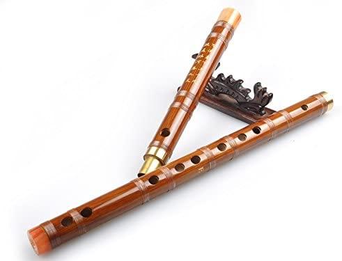 OrientalMusicSanctuary Bitter Bamboo Dizi Flute for Beginners - Dizi flute chinese shinobe (Key of F (Bangdi))