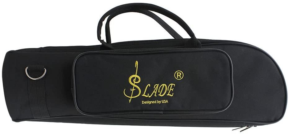 ammoon 600D Water-resistant Trumpet Gig Bag Oxford Cloth Adjustable Single Shoulder Strap Pocket 5mm Cotton Padded
