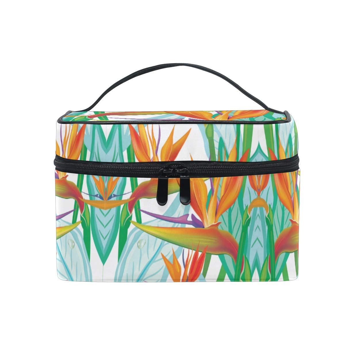 Makeup Bag Birds Of Paradise Flower Travel Cosmetic Bags Organizer Train Case Toiletry Make Up Pouch