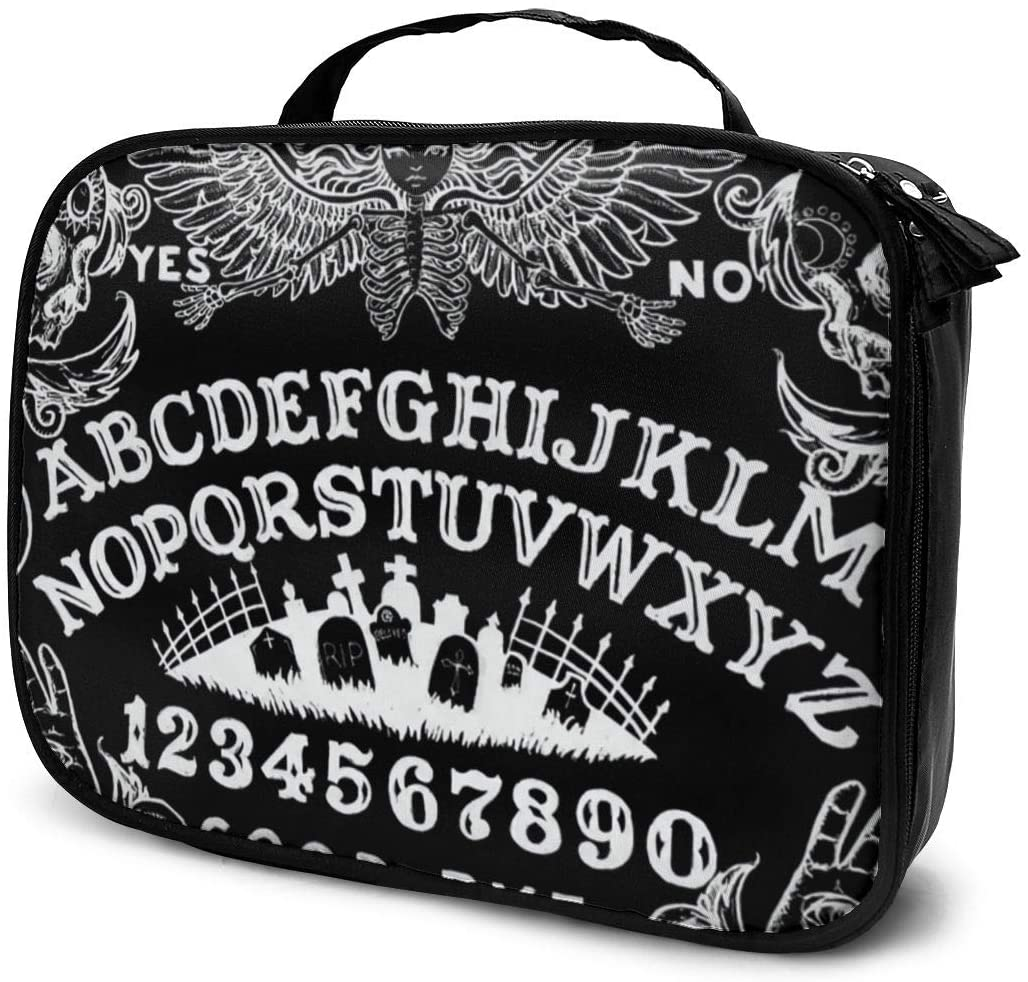 Lazy Toiletry Bag Handbag, Witch Board Black Gothic Goth Occult Witchcraft Travel Makeup Train Case Pouch Large Capacity Carry On Bag, Portable Luggage Pouch, Makeup Pouch] for Women Girls Ladies