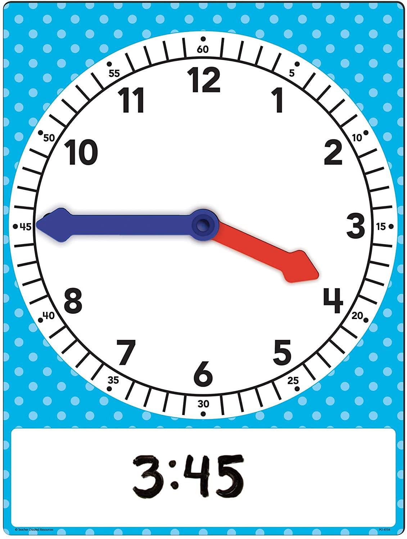 Teacher Created Resources Magnetic Foam Geared Clock, Large (20710)