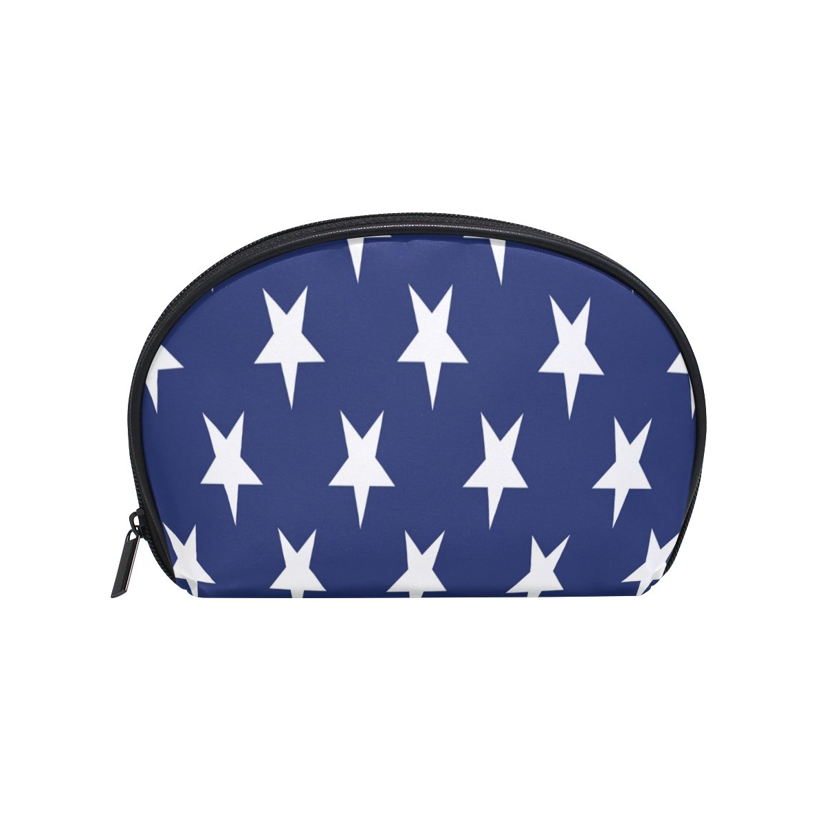 ALAZA Star Half Moon Cosmetic Makeup Toiletry Bag Pouch Travel Handy Purse Organizer Bag for Women Girls