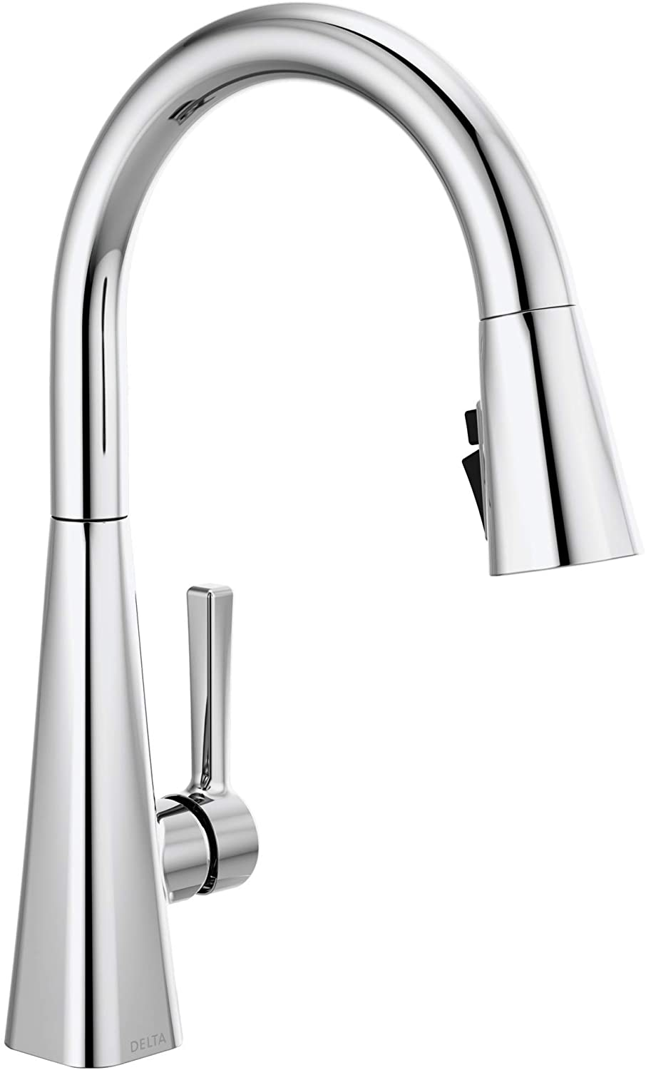 Delta Faucet Lenta Single-Handle Kitchen Sink Faucet with Pull Down Sprayer and Magnetic Docking Spray Head, Chrome 19802Z-DST