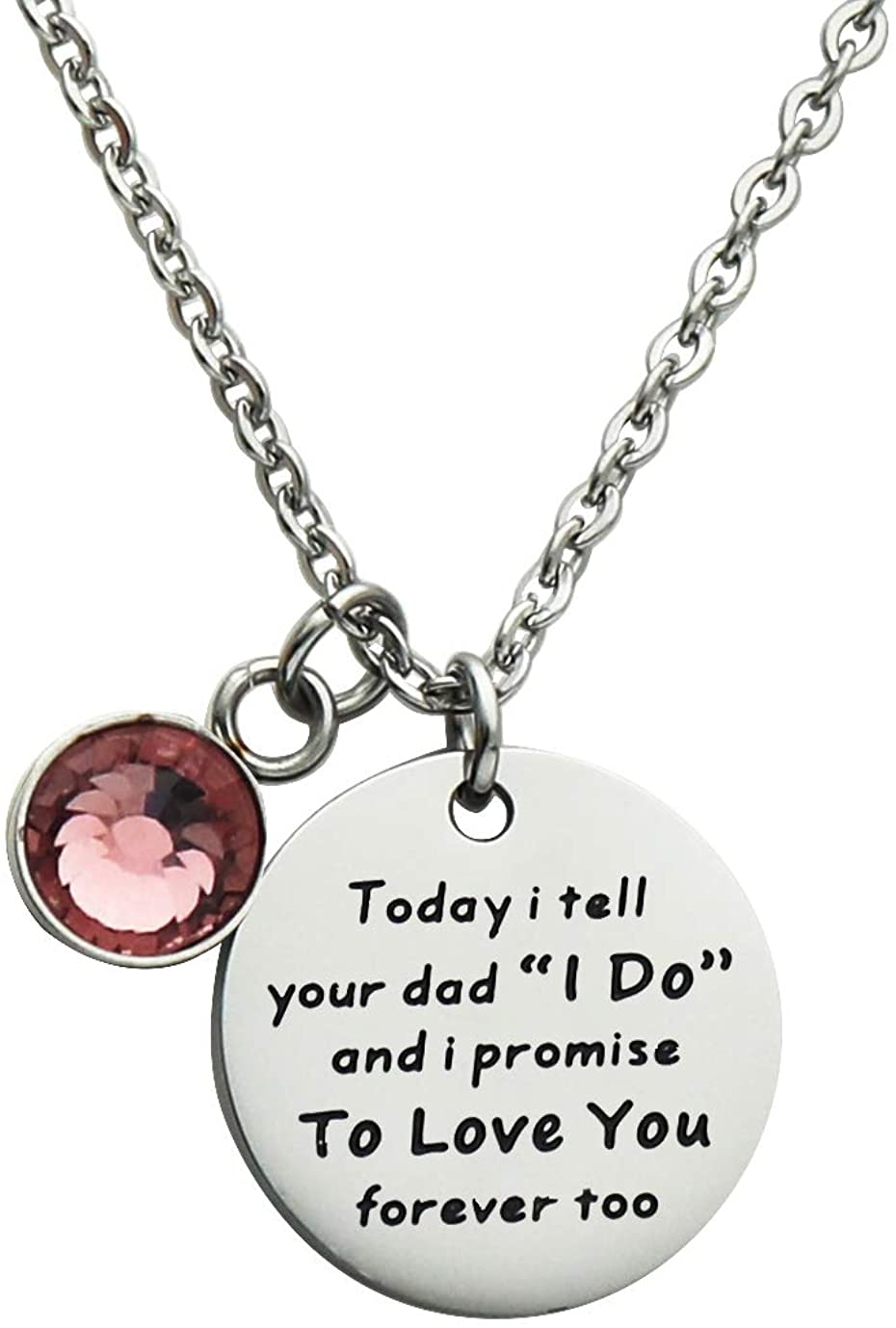Huiuy Stepdaughter Stepson Gifts Necklace from Stepmom I Didn't Give You The Gift of Life Adoption Necklace from Mother to Daughter