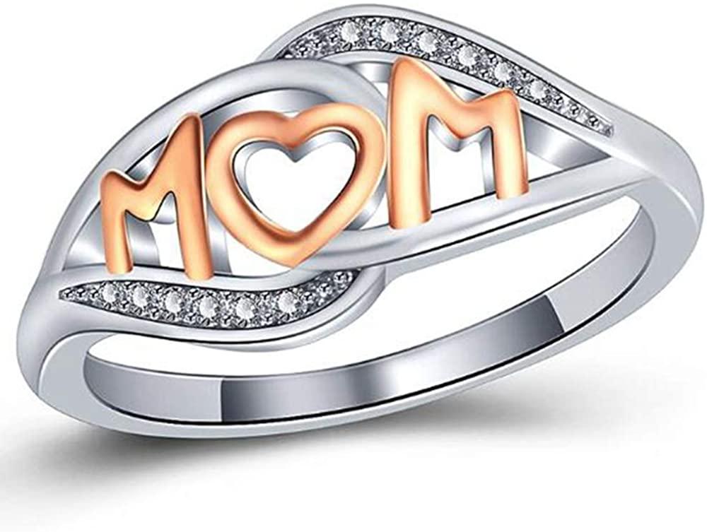 Jude Jewelers Platinum Plated Mom's Ring