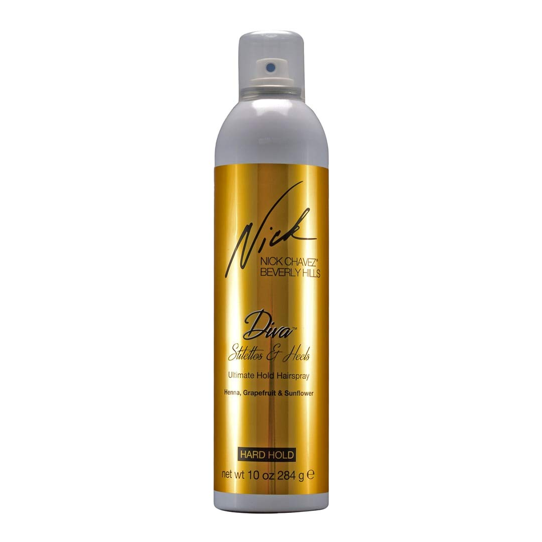 Nick Chavez Beverly Hills Professional Diva Stilettos & Heels Ultimate Hold Fine Mist Hairspray - Instant Volume Hair Product - 10 oz