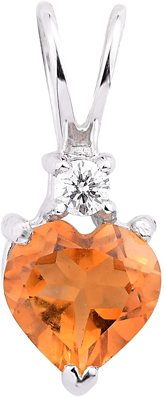Aurex Natural and Certified Gemstone Pendant in 14K Solid Yellow Gold with Diamonds | 0.70 Carat Gemstone with 0.03 Carat K Color I-1 Clarity Diamond Pendant for Ladies/Women/Girls