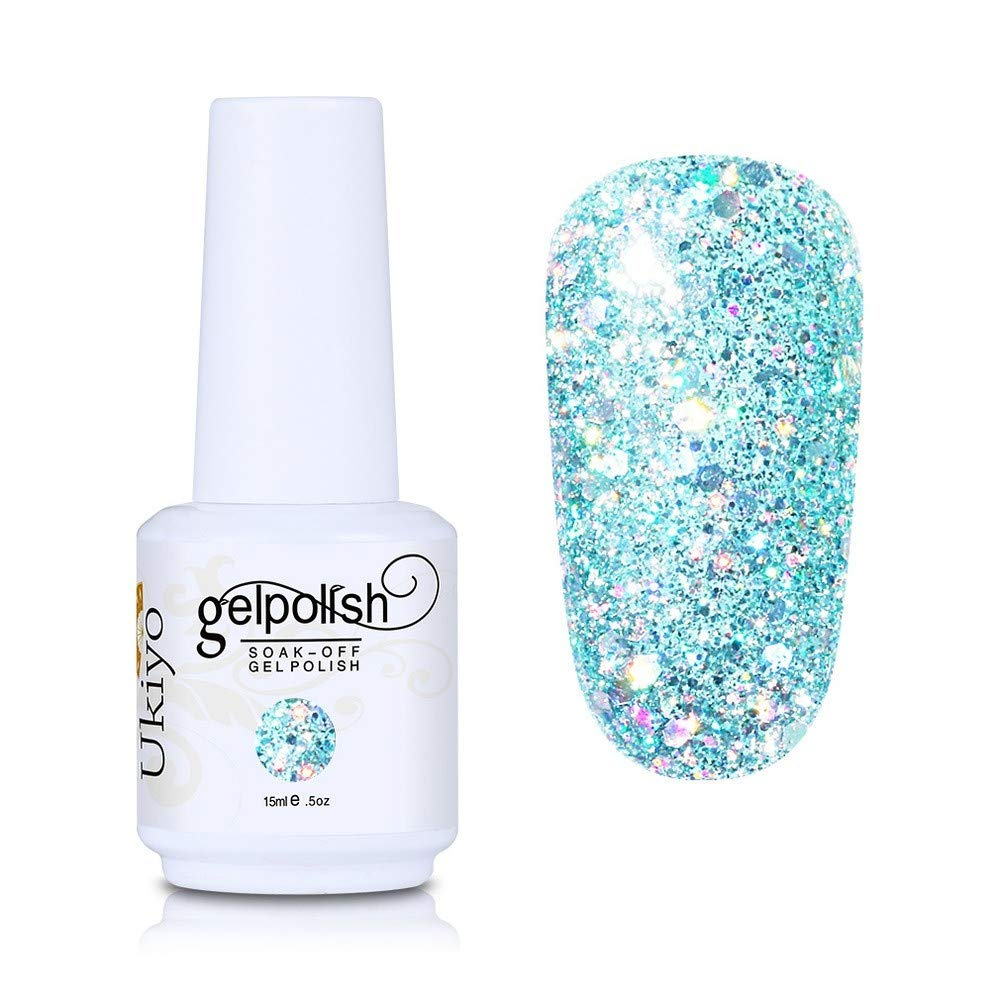 Nail Polish Glitter Gel Nail Polish Absorptive Gel Varnish Diamond Nail Polish Semi-Permanent Gel Oil (GC046)
