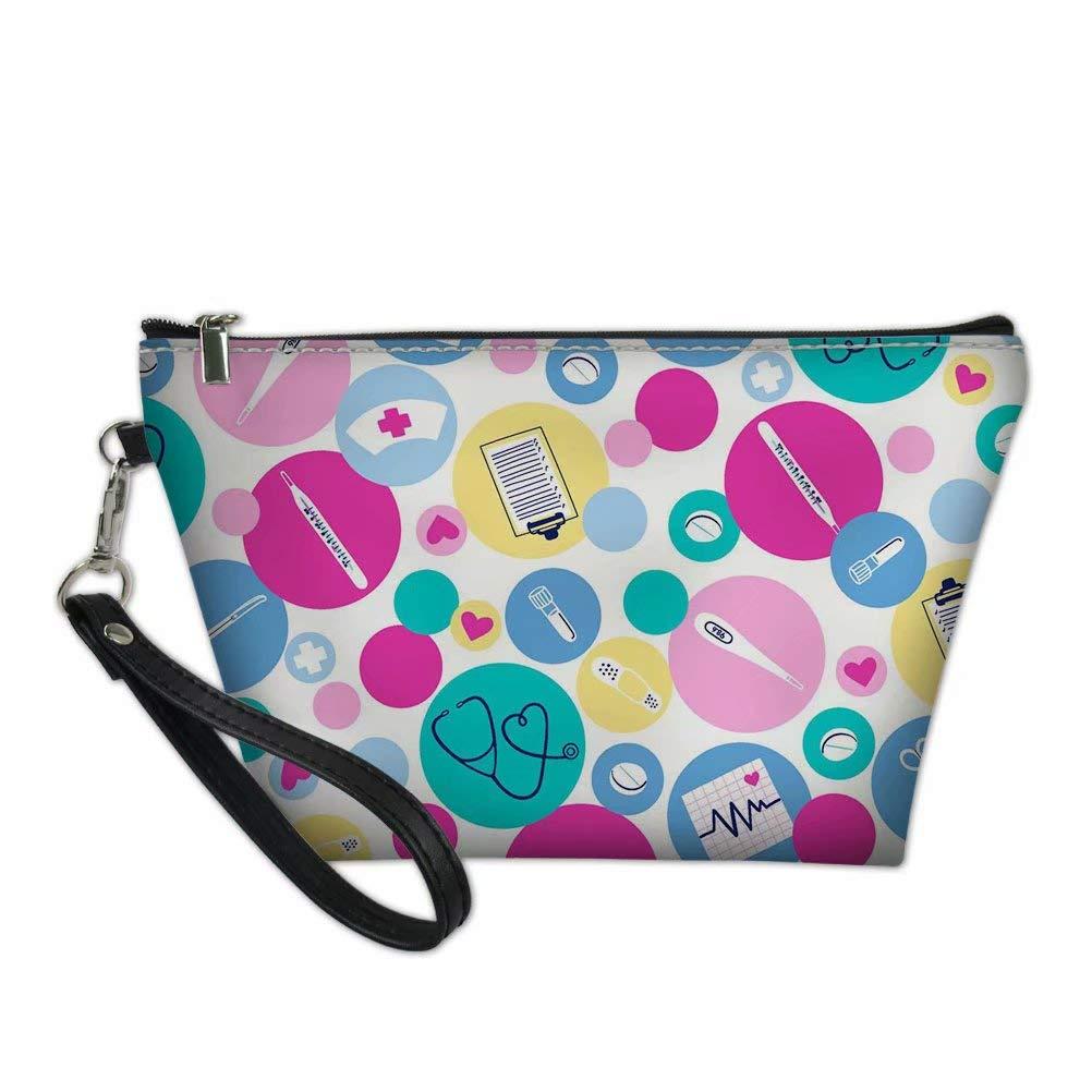 FOR U DESIGNS Women Cosmetic Bags Large Pencil Pouch Medical Nurse Printed School Pen Holder Womens Makeup Bag