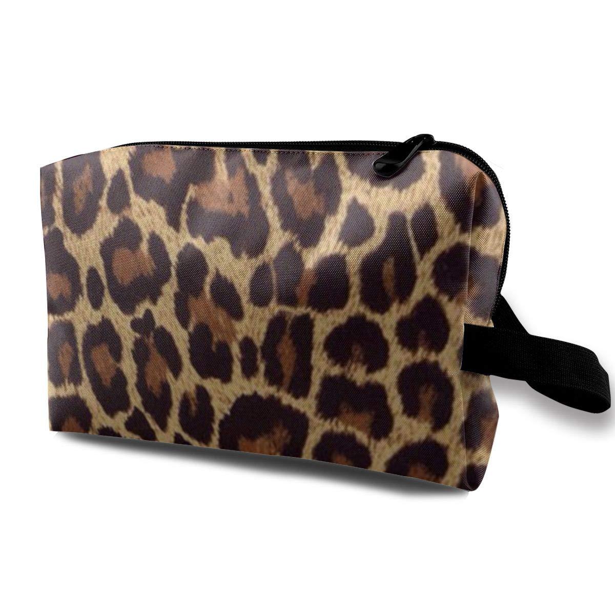 Makeup Bag Cosmetic Toiletry Travel Bag Cool Cheetah Leopard Organizer Pouch For Women Men