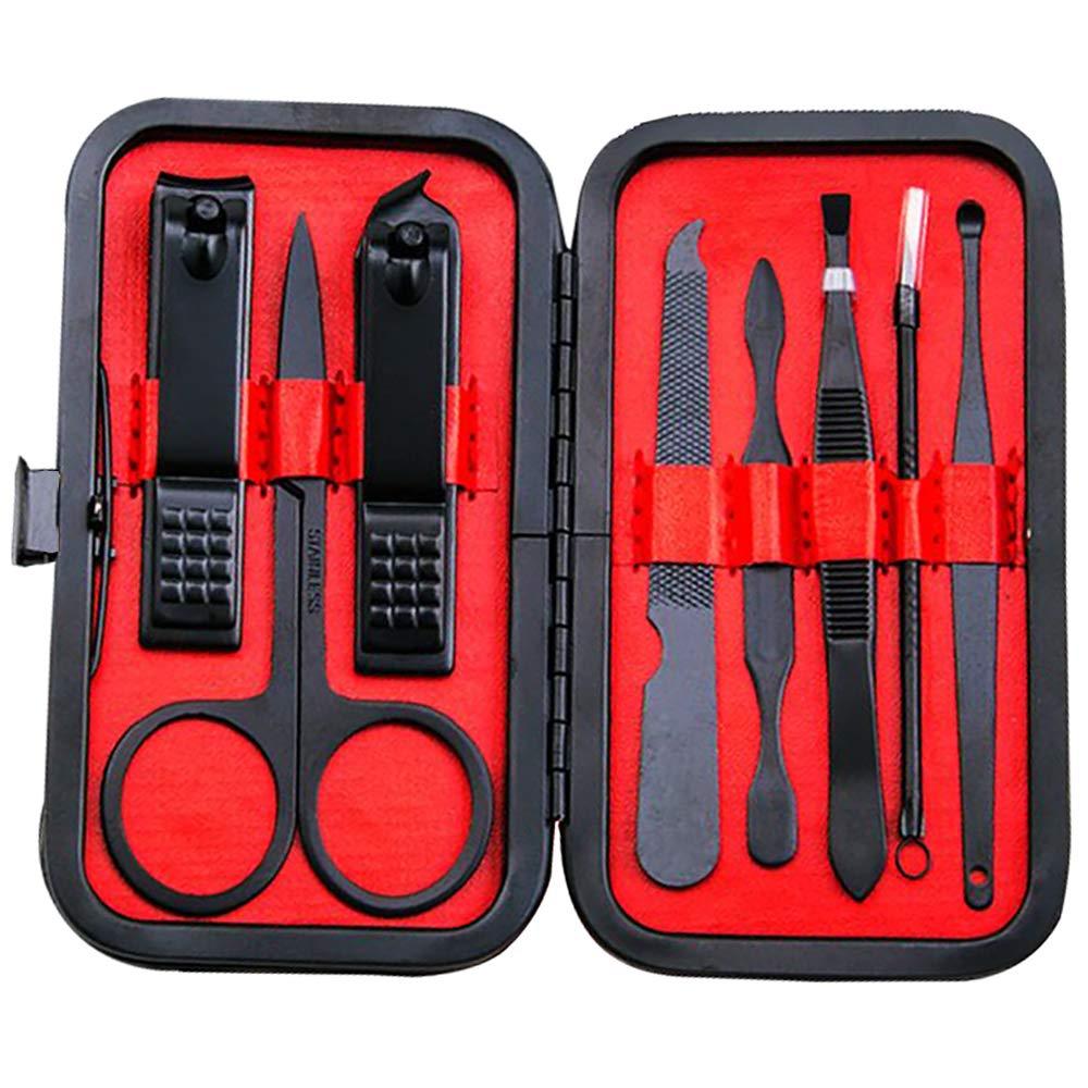 Manicure Set, Lainrrew 8 Pcs Nail Clipper Set Professional Nail Grooming Kit Pedicure Kit with Portable Travel Case