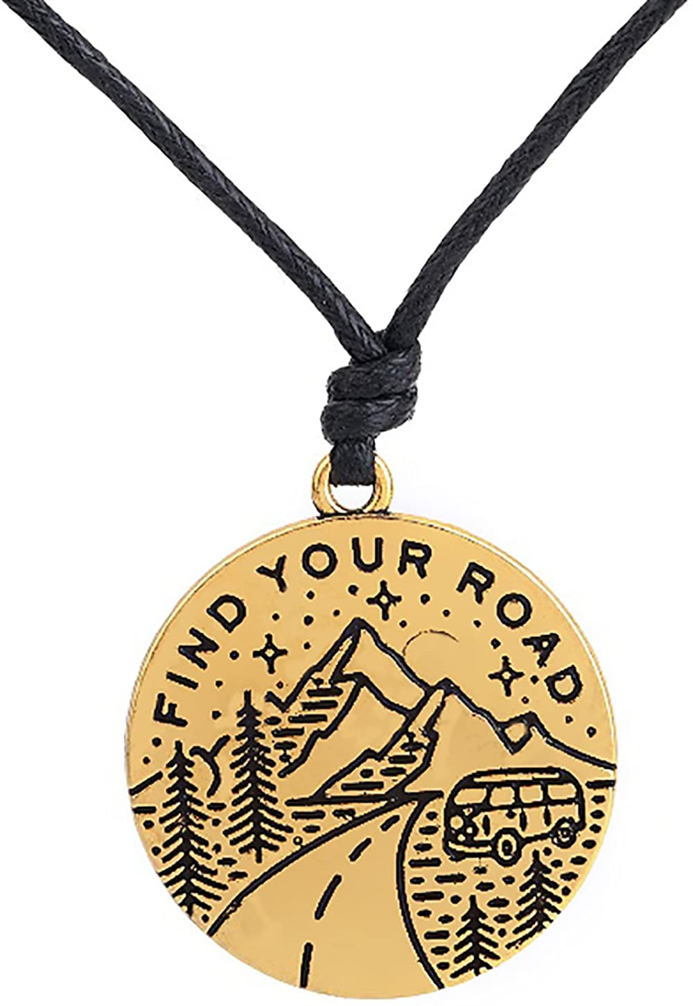 Lemegeton Adventure Wild Survive Road Trip Sun Star Moon Meaning Pendant Mountain Necklace Gifts Jewelry
