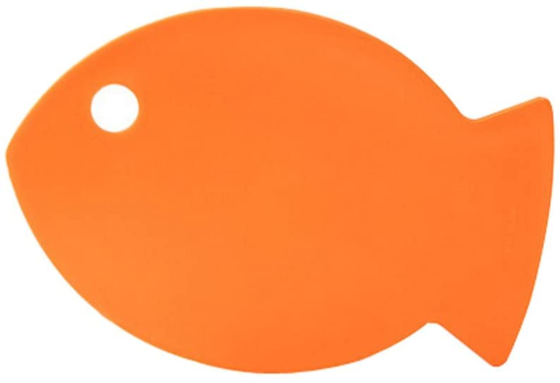 Creative Fish Shaped Health Baby Cutting Board Flexible Chopping Board ORANGE