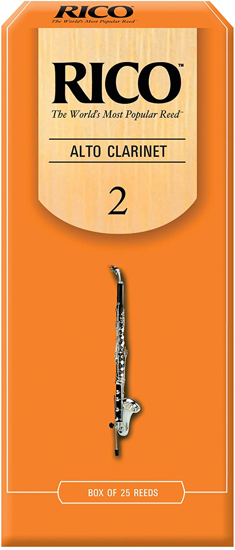 Rico Alto Clarinet Reeds, Strength 2.0, 25-pack