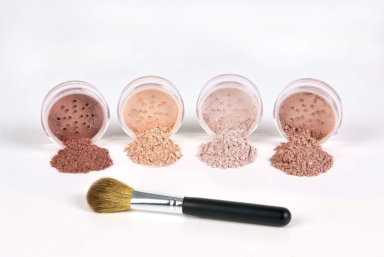 5pc BLUSH SET with BRUSH Mineral Makeup Kit Bare Face Powder Rouge Highlight (Full Size Blush Set)