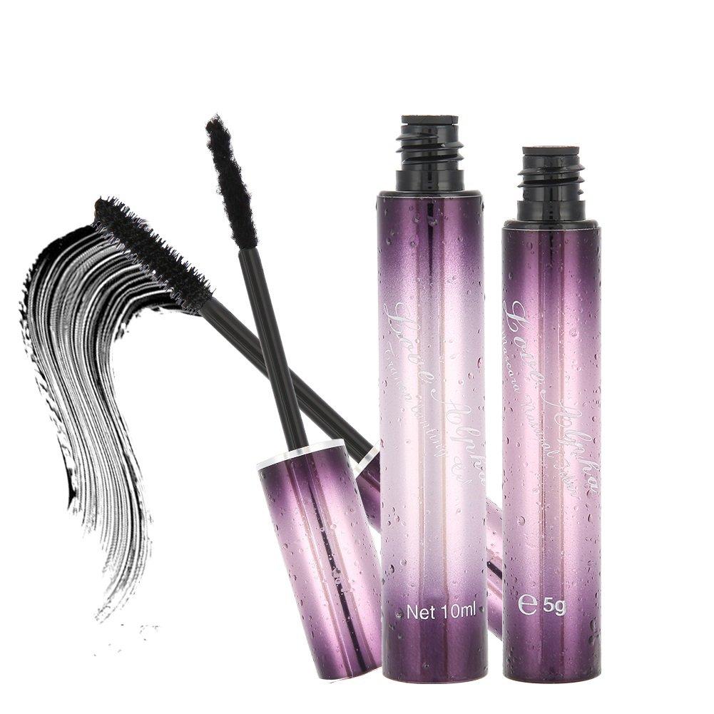 Mascara - 3D Fashion Waterproof Fiber Black Mascara, Curling Lengthening Eye Lashes Tools Cosmetic, 2Pcs