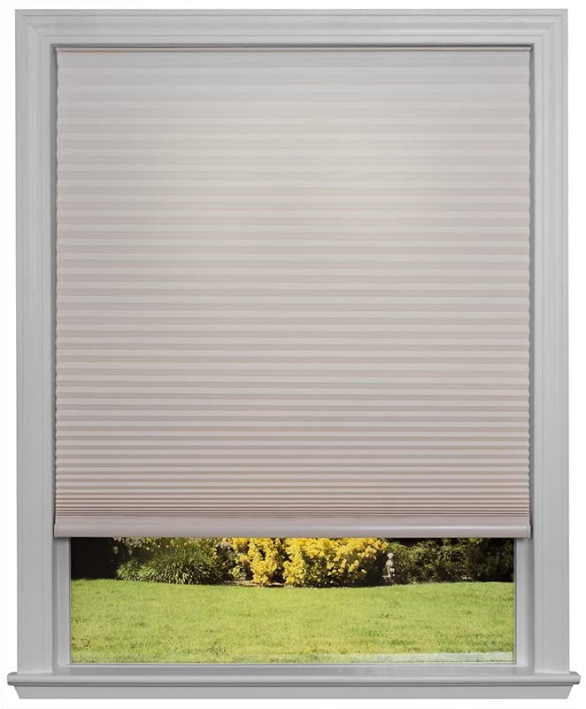 Easy Lift Trim-at-Home Cordless Cellular Light Filtering Fabric Shade Natural, 36 in x 64 in, (Fits windows 19
