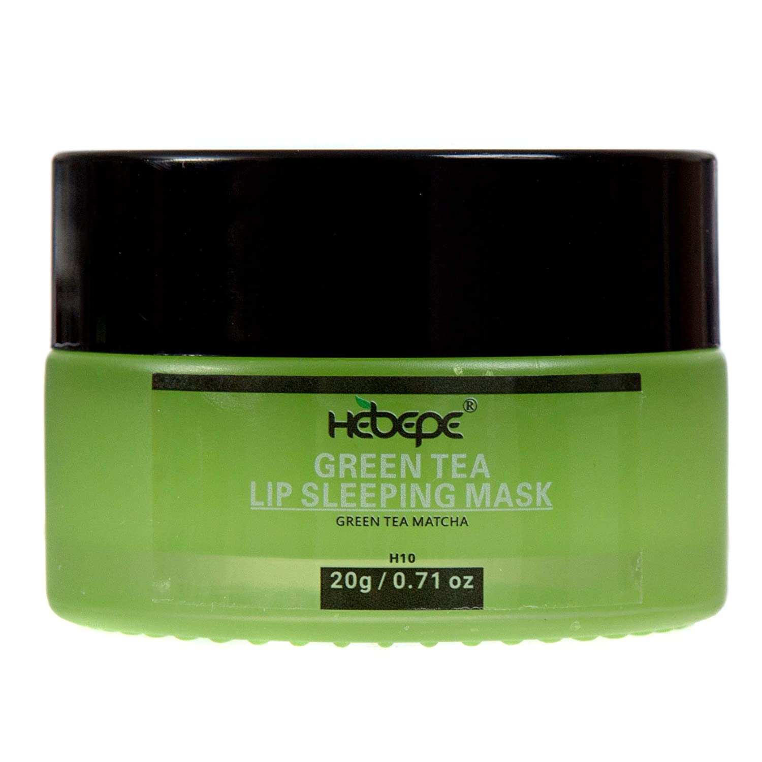 Hebepe Matcha Green Tea Lip Sleeping Mask Overnight, Dry Lips Treatment with Coconut Oil, Vitamin E, Fig Extract, Orchid, and Shea Butter, Lip Moisturizer for Severe Dry, Chapped, Cracked Lips
