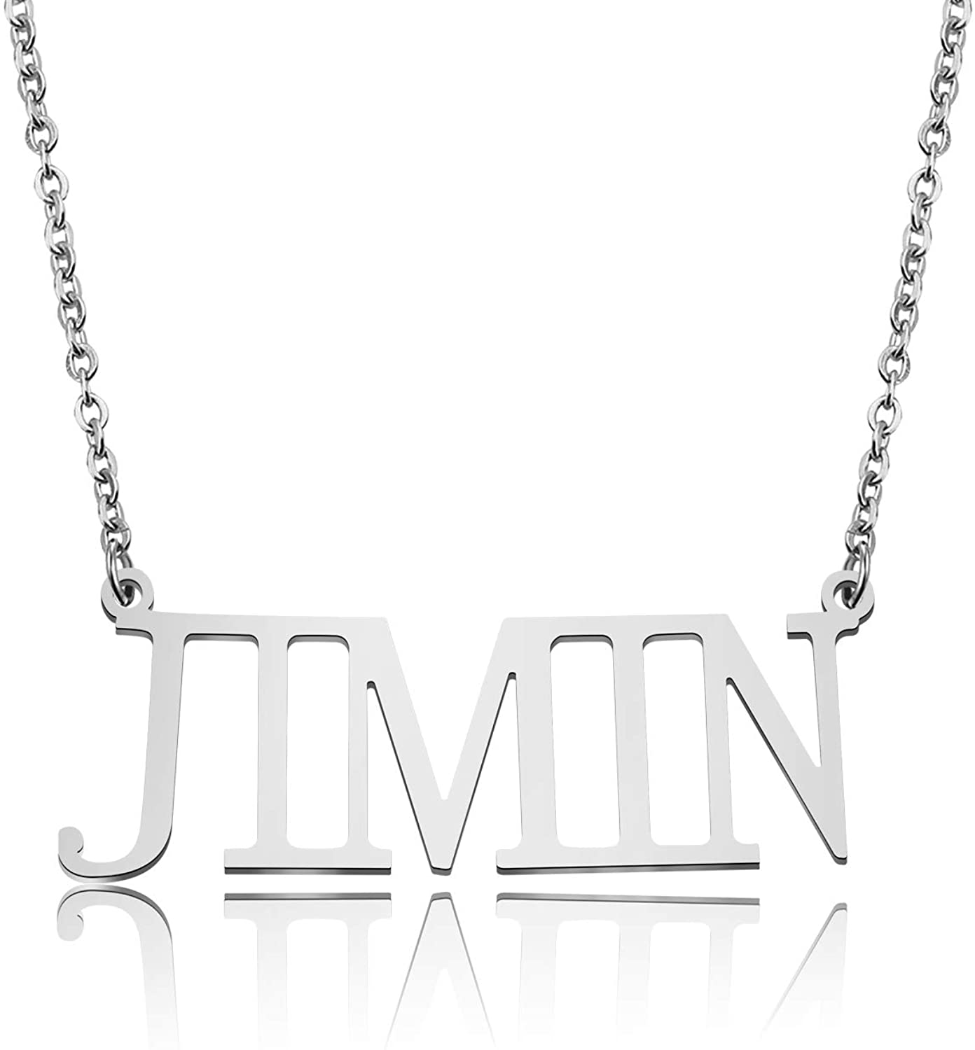 UJIMS BTS Korean Group Army Gift BTS Members Name Pendant Army Necklace for BTS Fans BFF Kpop Bangtan Boys Jewelry for Women