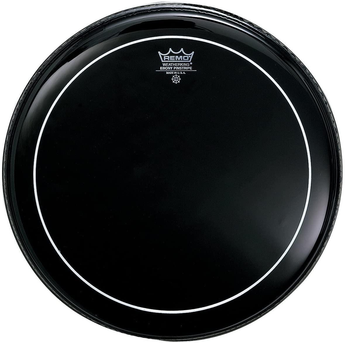 Remo ES0612PS Ebony Pinstripe Drum Head, 12-Inch