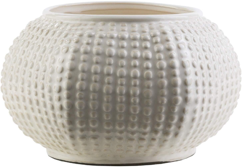 Ceramic Medium Size Decorative Vase - Off/White Blue Grey Off/White Beach