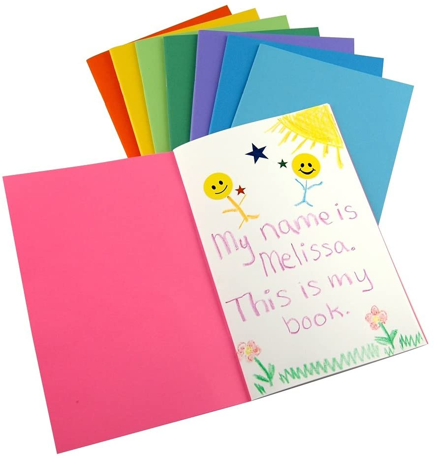 Hygloss Products Colorful Blank Books - Books for Journaling, Sketching, Writing & More - Great for Arts & Crafts - 6 Bright, Fun Colors - 8.5 x 11 Inches - 20 Pack