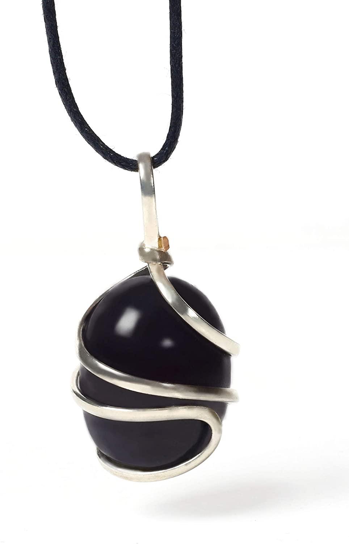 Garnet Tumbled Gemstone Pendant Necklace - Natural Crystal Healing | Stone of Regeneration & Creativity| Heart Chakra| Purifies & Detoxes Negativity | Jewelry for Men & Women