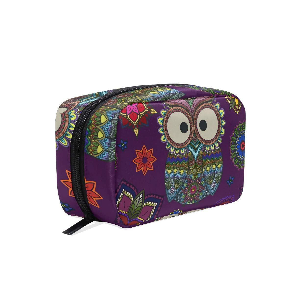 Makeup Bag Portable Travel Cosmetic Train Case Retro Owl Toiletry Bag Organizer Accessories Case Tools Case for Beauty Women
