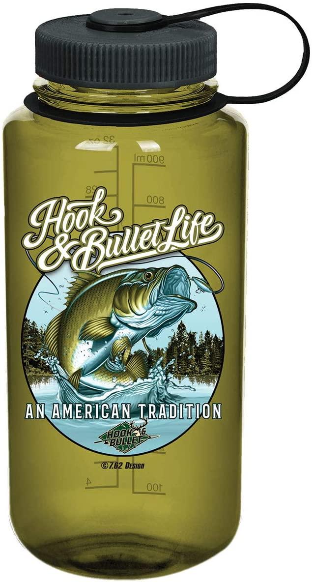 7.62 Design Fish Free Nalgene 32oz BPA-Free Water Bottle Olive