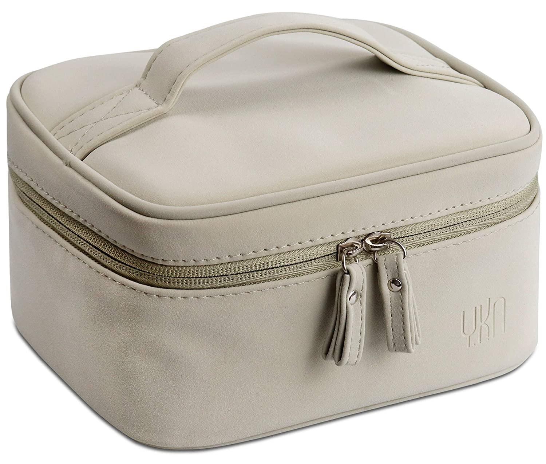YKN Make Up Bag Makeup Case Waterproof Detachable Makeup Organizer Toiletry Cosmetic Bag Large for Men Women Travel (L, Green)