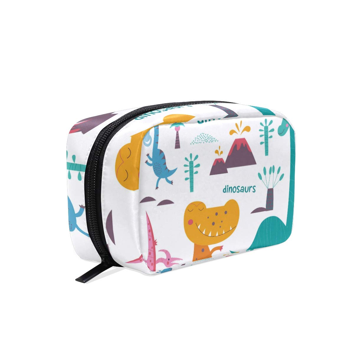 Women's Makeup Cosmetic Bag Cute Dinosaur Makeup Pouch for Travel Cosmetic Pouch Purse(904h11)