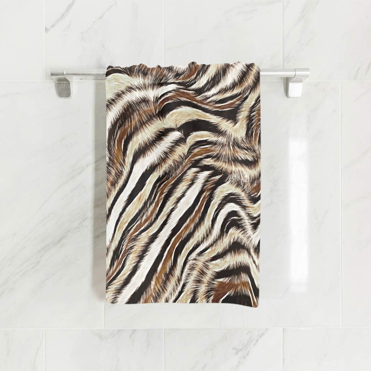 senya Towels, Leopard Animal Print Soft Hand Towel for Bathroom, Kitchen, Hotel spa
