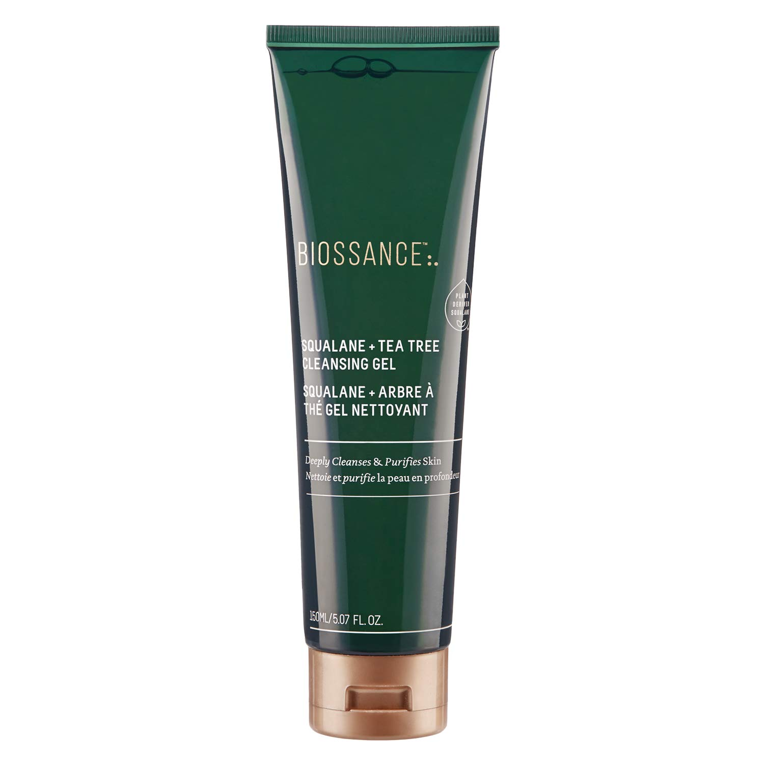 Biossance Squalane + Tea Tree Cleansing Gel - Gel Cleanser for Oily, Breakout-Prone Skin - No Parabens or Synthetic Fragrance (150ml)