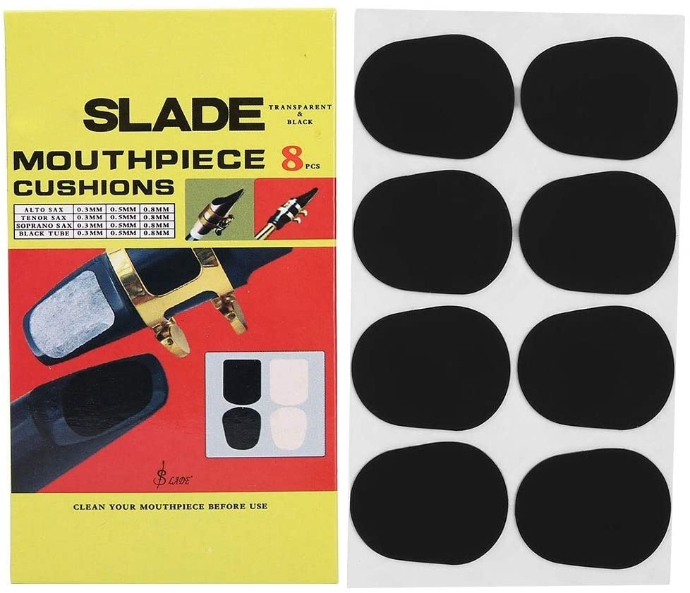 Rockyin Baritones Alto Saxophone Mouthpiece Cushions Patches Pads (0.8MM)