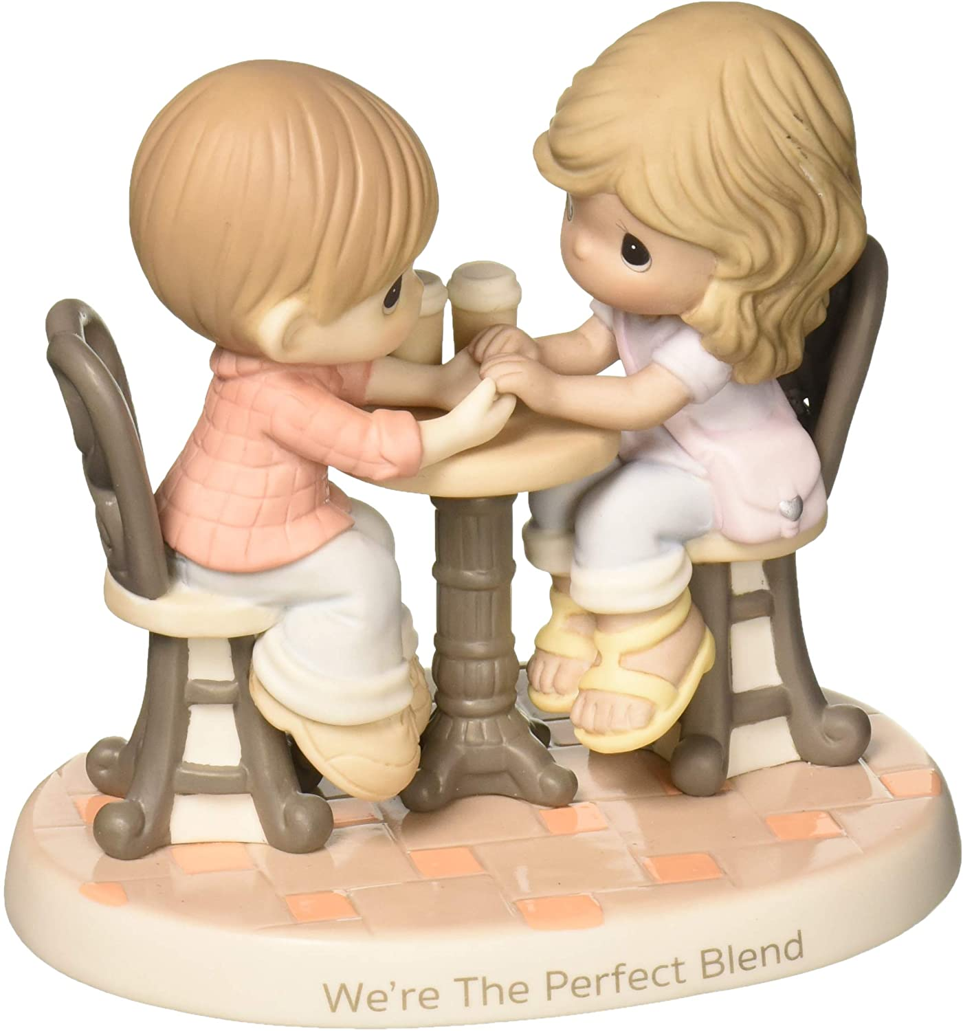 Precious Moments We're The Perfect Blend Couple With Coffee Bisque Procelain Figurine 181040